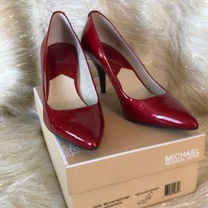 Michael Kors textured red patent pump